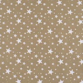 Ткань на отрез поплин 150 см 433/28 Звездочка цвет золото фото