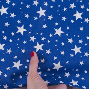 Ткань на отрез поплин 150 см 433/21 Звездочка цвет василек фото