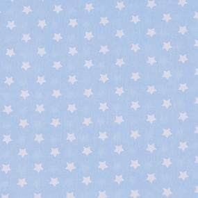 Ткань на отрез поплин 150 см 390/3 Звездочки цвет голубой фото