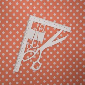 Ткань на отрез кулирка R1028-V8 Горох на оранжевом фото