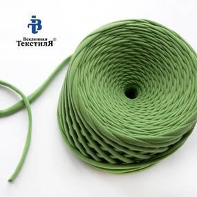 Трикотажная пряжа цвет травяной фото