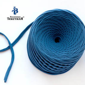 Трикотажная пряжа цвет синий фото