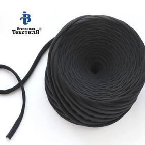 Трикотажная пряжа цвет черный фото
