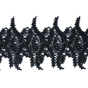 Кружево плетеное СЕВЕР черное SK-139 13см упаковка 10 м фото