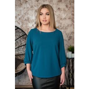 Блуза 0184-21 цвет Изумрудный р 50 фото