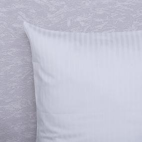 Наволочка страйп-сатин полоса 1х1 120 гр/м2 001 цвет белый в упаковке 2 шт 70/70 фото