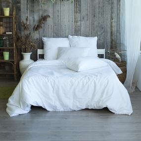 Пододеяльник из страйп-сатина полоса 1х1 120 гр/м2 001 цвет белый, 2-x спальный фото