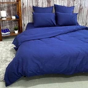 Пододеяльник из страйп-сатина полоса 1х1 120 гр/м2 191/2 цвет синий, 2-x спальный фото
