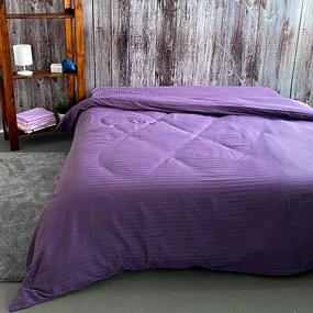 Пододеяльник из страйп-сатина полоса 1х1 120 гр/м2 639/2 цвет сирень, 2-x спальный фото