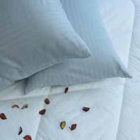 Наволочка страйп-сатин полоса 1х1 120 гр/м2 906/2 цвет светло-серый в упаковке 2 шт 70/70 фото