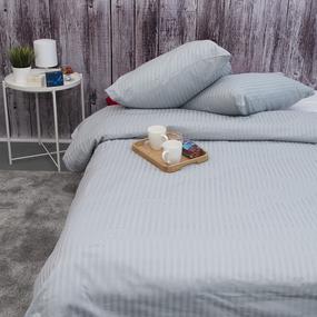 Пододеяльник из страйп-сатина полоса 1х1 120 гр/м2 906/2 цвет светло-серый, 1,5 спальный фото