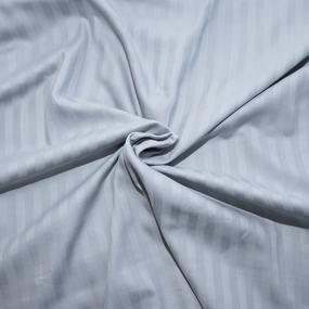 Пододеяльник из страйп-сатина полоса 1х1 120 гр/м2 906/2 цвет светло-серый, Евро фото