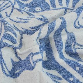 Одеяло детское байковое жаккардовое 100/140 см коты цвет синий фото