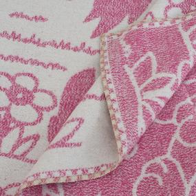 Одеяло детское байковое жаккардовое 100/140 см щенки цвет розовый фото