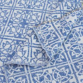 Одеяло байковое жаккардовое 145/200 цвет кельт синий фото