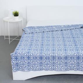Одеяло байковое жаккардовое 200/235 цвет кельт синий фото