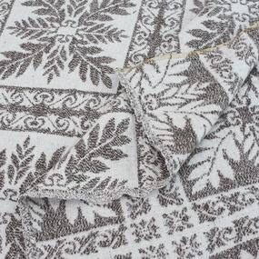 Одеяло байковое жаккардовое 185/200 цвет кельт коричневый фото