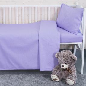 Постельное белье в детскую кроватку из бязи цвет сирень фото