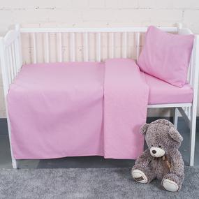 Постельное белье в детскую кроватку из бязи цвет розовый фото