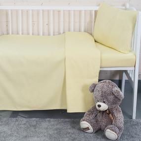 Постельное белье в детскую кроватку из бязи цвет желтый фото