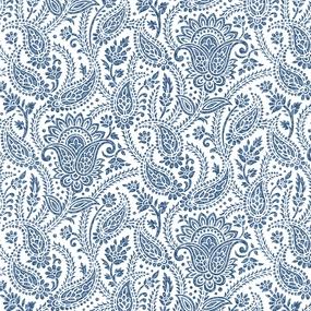 Ткань на отрез рогожка 150 см 3045-1 Персия цвет синий фото