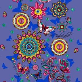 Ткань на отрез вафельное полотно 45 см 144 гр/м2 1763/1 цвет фиолетовый фото
