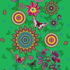Ткань на отрез вафельное полотно 45 см 144 гр/м2 1763/2 цвет зеленый фото