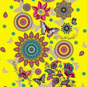 Ткань на отрез вафельное полотно 45 см 144 гр/м2 1763/3 цвет желтый фото
