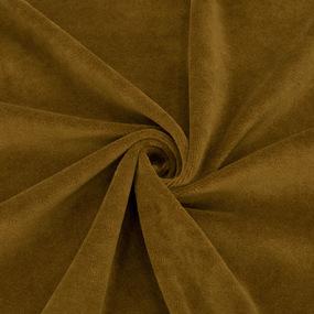 Ткань на отрез велюр цвет темно-горчичный фото