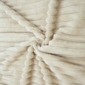 Мерный лоскут велсофт Orrizonte 300 гр/м2 200 см цвет кремовый 1,2 м фото