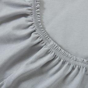 Простыня трикотажная на резинке Премиум цвет серый 60/120/12 см фото