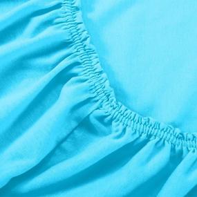 Простыня трикотажная на резинке Премиум цвет бирюзовый 60/120/12 см фото