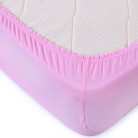 Простыня трикотажная на резинке Премиум цвет розовый 60/120/12 см фото