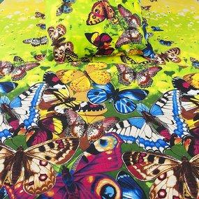 Постельное белье бязь 4094 Бабочки 1.5 сп с 1-ой нав. 70/70 фото