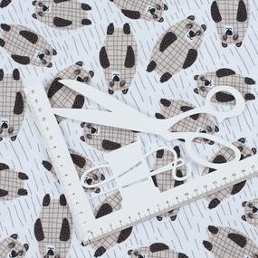 Ткань на отрез интерлок R310 Медведи фото