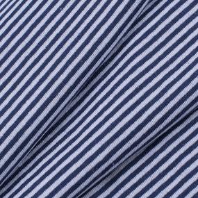 Ткань на отрез кулирка синяя полоска фото