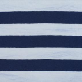 Ткань на отрез кулирка широкая синяя полоса фото