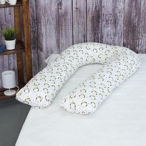 Наволочка бязь на подушку для беременных U-образная 441/1 Королевский пингвин фото