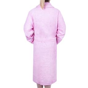 Халат женский махровый воротник шалька розовый р 46 фото