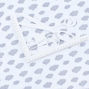 Ткань на отрез интерлок пенье Облака серые 5745-17 фото