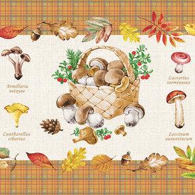 Полотно вафельное 50 см набивное арт 60 Тейково рис 5545 вид 1 Царство грибов фото