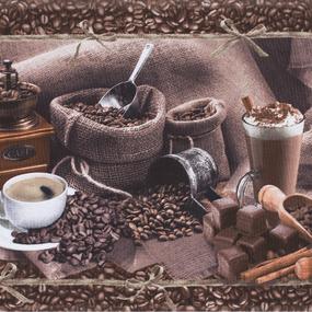Полотно вафельное 50 см набивное арт 60 Тейково рис 5562 вид 1 Арабика фото