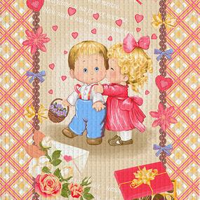 Полотно вафельное 50 см набивное арт 60 Тейково рис 5565 вид 1 С любовью фото