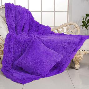 Покрывало-плед шиншилла 220/240 цвет фиолетовый фото