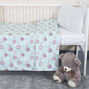 Постельное белье в детскую кроватку 13177/1+13167/1 перкаль фото