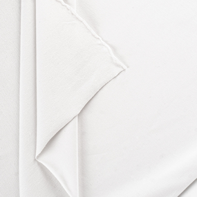 Мерный лоскут футер петля с лайкрой 9000 Optik White 1,2 м фото