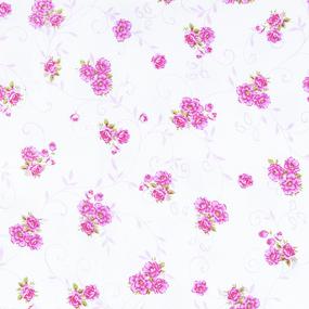 Ткань на отрез фланель б/з 140 см цветок цвет розовый фото