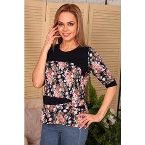 Блузка Пряжка нежно розовые цветы В39 р 60 фото