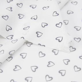 Ткань на отрез супер софт 2417 Сердечки цвет серый фото