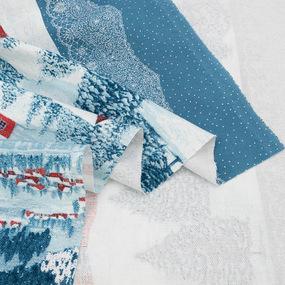 Ткань на отрез рогожка 150 см 20544/1 Зимняя ночь фото